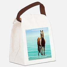 Cute White horse Canvas Lunch Bag