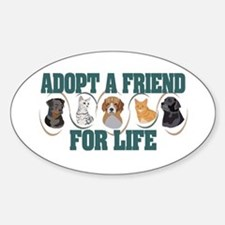 Adopt A Friend Oval Decal
