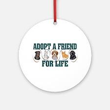 Adopt A Friend Ornament (Round)