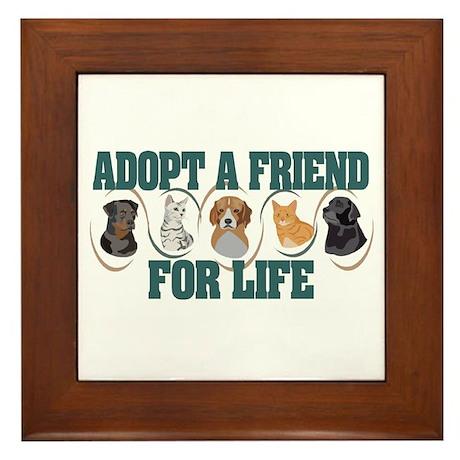 Adopt A Friend Framed Tile