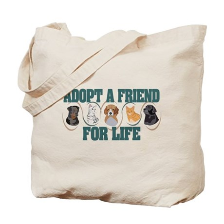 Adopt A Friend Tote Bag