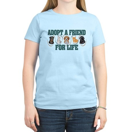 Adopt A Friend Women's Light T-Shirt