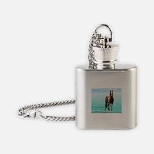 Unique Assateague island Flask Necklace