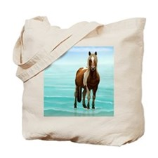Cute White horse Tote Bag