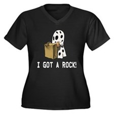I got a rock Women's Plus Size V-Neck Dark T-Shirt