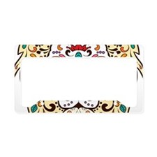 Lion Sugar Skull Design License Plate Holder