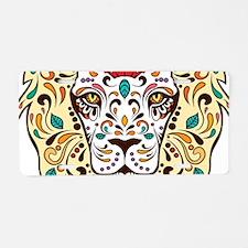 Lion Sugar Skull Design Aluminum License Plate