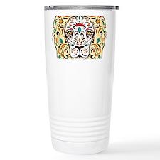 Lion Sugar Skull Design Travel Mug