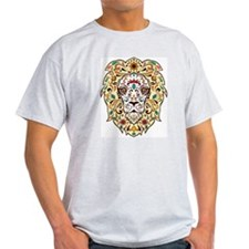 Lion Sugar Skull Design T-Shirt