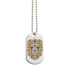 Lion Sugar Skull Design Dog Tags