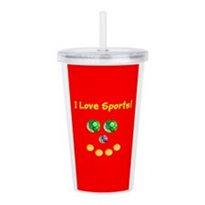 I Love Sports Assorted Acrylic Double-Wall Tumbler