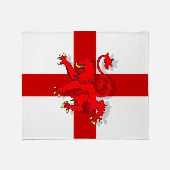 English Lion Flag Throw Blanket