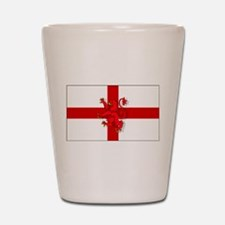 English Lion Flag Shot Glass