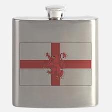 English Lion Flag Flask