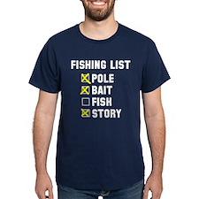 Fishing List T-Shirt