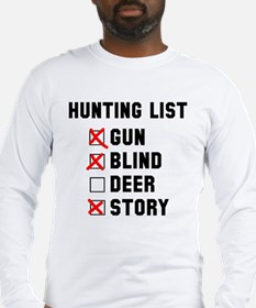 Hunting List Long Sleeve T-Shirt
