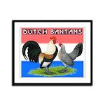 Dutch Bantams Framed Panel Print