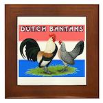 Dutch Bantams Framed Tile