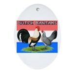 Dutch Bantams Oval Ornament