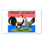Dutch Bantams Rectangle Sticker