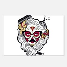 Hairdresser Sugar Skull Postcards (Package of 8)