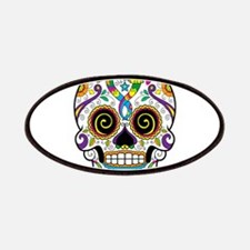 Curly Eyes Sugar Skull Patches