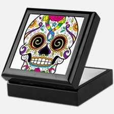 Curly Eyes Sugar Skull Keepsake Box
