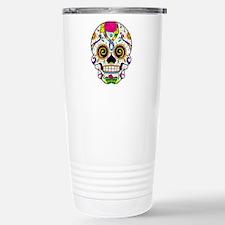 Curly Eyes Sugar Skull Travel Mug