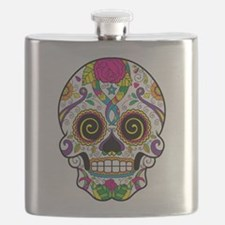 Curly Eyes Sugar Skull Flask
