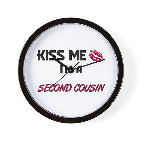 Kiss Me, I'm a SECOND COUSIN Wall Clock