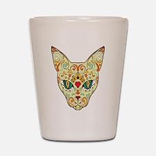 Kitty Sugar Skull Shot Glass