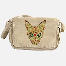 Kitty Sugar Skull Messenger Bag