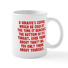 Giraffe coffee throat Small Mug