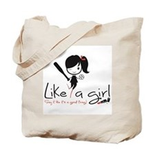 Hit Like a girl! Tote Bag