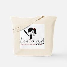 Hit Like a girl! Tote Bag