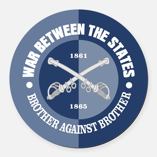 War Between The States Round Car Magnet