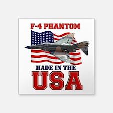 """F-4 Phantom Square Sticker 3"""" x 3"""""""
