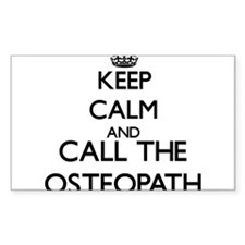Keep calm and call the Osteopath Decal