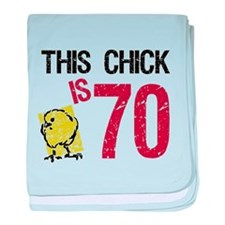 Cute 70 birthday baby blanket