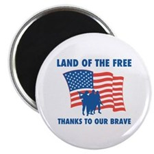 """Thanks To Our Brave 2.25"""" Magnet (10 pack)"""