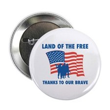 "Thanks To Our Brave 2.25"" Button (10 pack)"