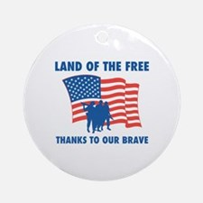 Thanks To Our Brave Ornament (Round)