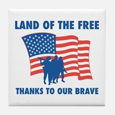 Thanks To Our Brave Tile Coaster