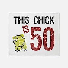 Cute 50th gag women Throw Blanket