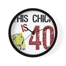 Cute 40th birthday gag Wall Clock