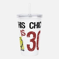 Cute 30th birthday for her Acrylic Double-wall Tumbler