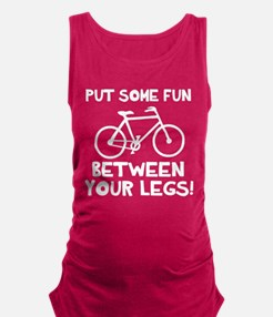 Bike between your legs Maternity Tank Top