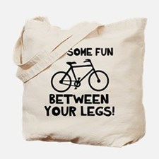 Bike between your legs Tote Bag