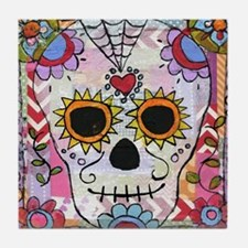 day of the dead 1 Tile Coaster