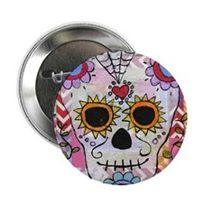 """day of the dead 1 2.25"""" Button"""